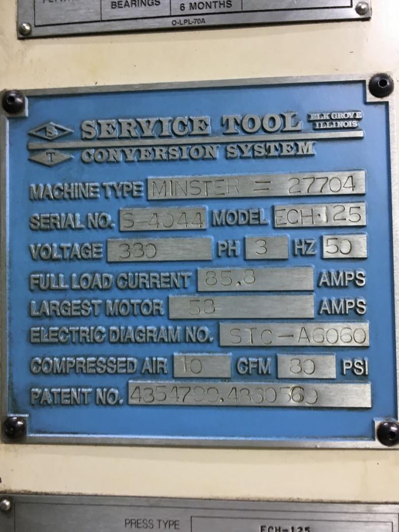 Minster ECH-125 prensa de conversión