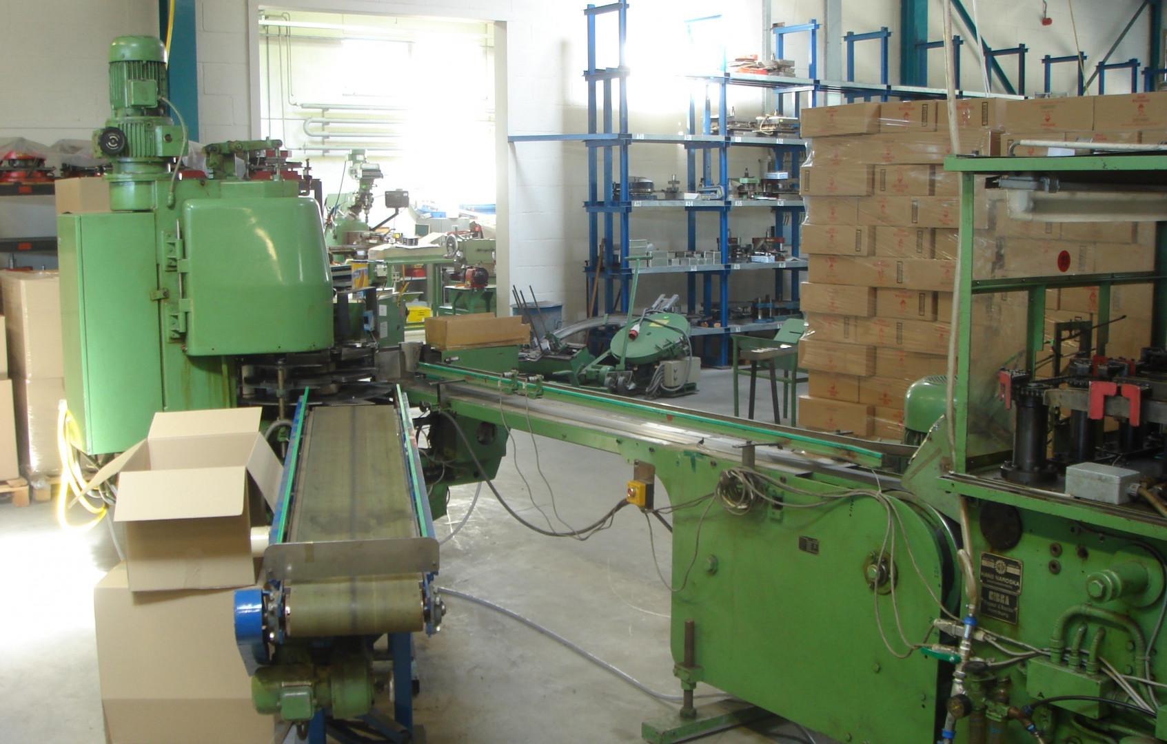 Lubeca LW 303 automatic seamer - output conveyor